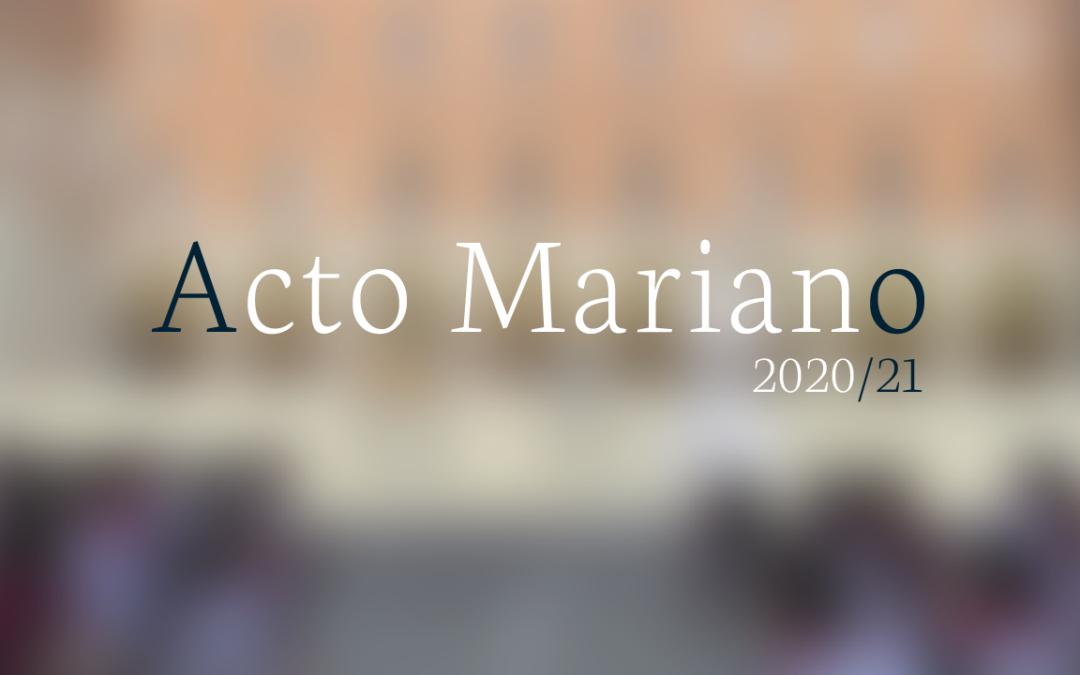 Una semilla llena de esperanza: Acto Mariano 2021